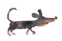 das dachshund http://ift.tt/2bh2N2X Art watercolor acrylic doodle art painting artistsoftumblr watercolor