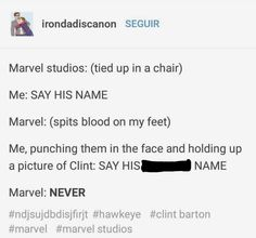me @ the russo bros Marvel Heroes, Marvel Avengers, Marvel Comics, Dc Movies, Clint Barton, Marvel Entertainment, Jeremy Renner, Marvel Funny, Stucky