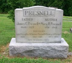 Western Kentucky Genealogy Blog: Tombstone Tuesday - J.C. and Mary R. Presnell #genealogy