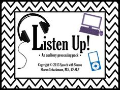 Listen Up! An Auditory Processing Pack
