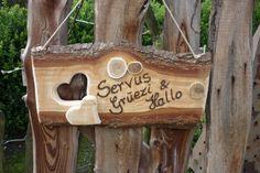Wooden Türschild ♥ Holzschild  von Holz- Kreativ auf DaWanda.com