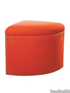 Fitting into any corner, this storage ottoman is a great solution for tight spaces.