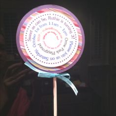 Lollipop birthday party invitations for my 3 year old. Copied the idea from @betterthanicouldhaveimagined.