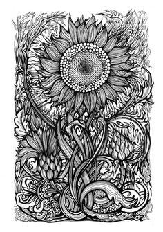 doodle zonnebloem