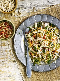 Try Debbie Major's Vietnamese chicken salad recipe with punchy herbs, zingy dressing and crunch galore.