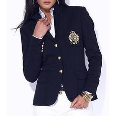NWT RALPH LAUREN Women SZ 2 JACKET NAVY BLAZER BLUE ROYAL LADIES WOOL SUIT $290