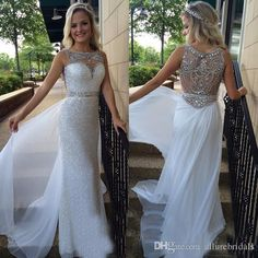 Free shipping, $130.9/Piece:buy wholesale White Sequined Crystal Beaded Prom Gowns Boat Neck Sexy Beading Back Pageant Gown Chiffon OverSkirt Evening Dresses from DHgate.com,get worldwide delivery and buyer protection service.
