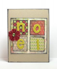 Noel Christmas card using American Crafts Amy Tangerine Thickers