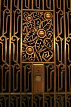 Art Deco design in Chicago - Google.com - bold lines, floral motif but not symmetrical