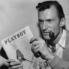 Hugh Hefner, Playboy founder, 1963. Photo by John Austad
