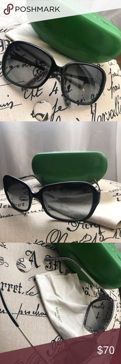Kate Spade Rae Sunglasses with case Kate Spade Rae Sunglasses with case and dust towel! Great condition, practically new - rarely used - just not the shape for me. kate spade Accessories Sunglasses