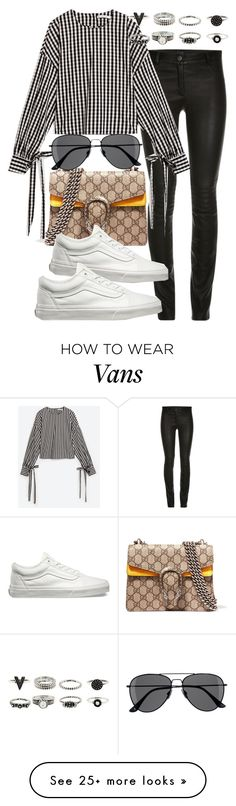 """""""Untitled #2567"""" by mandyzng on Polyvore featuring Vichy, Gucci, Vans and H&M"""