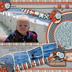 Multi picture scrapbooking idea