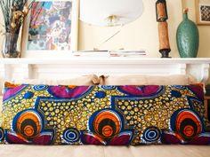 African Wax Print Pillow