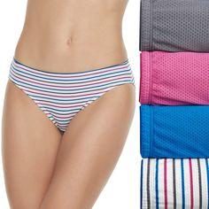 3 Pack Jockey Womens Cotton Stretch Bikini lettre Slip Underwear