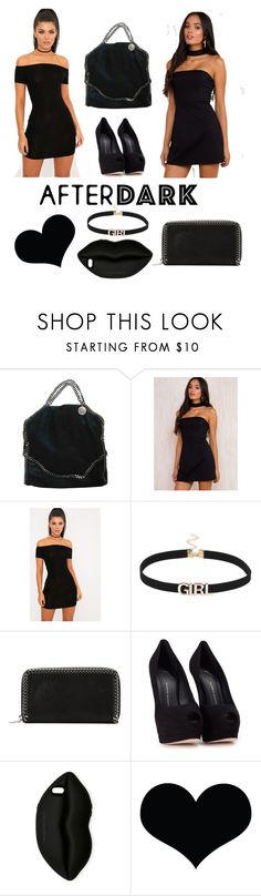 """""""Black outfits are my passion"""" by sophie01234 ❤ liked on Polyvore featuring STELLA McCARTNEY, Giuseppe Zanotti and Brika"""