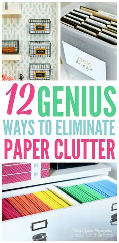 The best organizing paperwork ideas to eliminate clutter for good. Organize your bills and important documents with these great ideas!