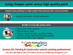 Exterior house painting is a major project that consumes time, money and labor. To get the best results, use high quality paints. House Painting Services, House Paint Exterior, How To Apply, Good Things