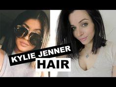 KYLIE JENNER HAIR TUTORIAL & Short Hair Care Routine - YouTube