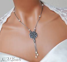 Fine Silver Celtic Sun Knot Necklace With Fresh by NMBeadsJewelry