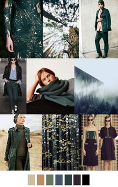 F/W 2017-18 pattern & colors trends: EVERGREEN