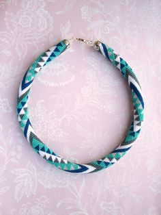 MADE TO ORDER Triangle necklace Seed bead necklace Casual