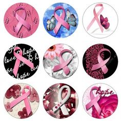 BREAST CANCER AWARENESS 1 inch circle images BOTTLE CAP SIZE Digital  | Artvision - Craft Supplies on ArtFire Bottle Cap Magnets, Beer Bottle Caps, Bottle Cap Art, Bottle Cap Projects, Bottle Cap Crafts, Diy Bottle, Paper Mache Crafts, Resin Crafts, Crafts To Sell