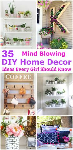 Home Decor ideas are pretty cheap when you DIY. I am glad that I could find these DIY Home Decor Ideas and pinning for future reference. Every girl should know these Home Decor DIY ideas.
