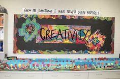 Art Teacher bulletin board blog....great idea for any art teacher! :)