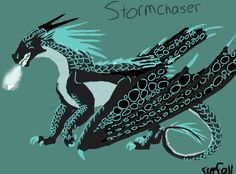 My wof oc. I'm a nightwing-icewing cross. I have mostly black scales with every single scale edged in a frosty blue. I cannot read minds, but I do have a frosty breath. I am from the ice wing kingdom, but my mom(an icewing) threw me out and I was taken in by the nightwings