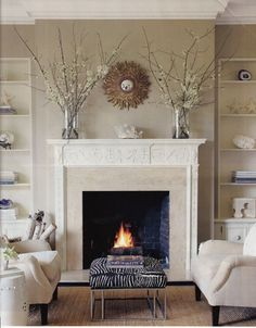 Wondrous Unique Ideas: Fireplace And Mantels How To Decorate fireplace makeover wood planks.Fake Fireplace Shiplap fireplace and mantels how to decorate.Fireplace And Mantels How To Decorate. Fireplace Seating, Cozy Fireplace, Living Room With Fireplace, Fireplace Surrounds, Fireplace Mantels, Fireplace Design, My Living Room, Living Room Decor, Mantles