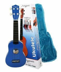 MARTIN SMITH BLUE UKULELE WITH BAG & FREE 31 PAGE BEGINNERS BOOK   Greatmusicstore4u.com