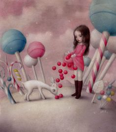 Kawaii Interview: Nicoletta Ceccoli ¤ non solo Kawaii Mark Ryden, Arte Lowbrow, Art Beat, Candy Art, Surrealism Painting, Arte Horror, Creepy Cute, Whimsical Art, Art Design