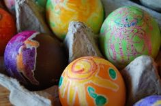 Melted Crayon Eggs -