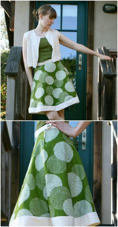 DIY Hemless a-line skirt Step by Step Instructions - Top 15 Summer Ready DIY Skirts With Free Patterns and Instructions