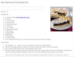 Chocolate Merinque Pie