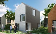 """datcha house 3"" with paneled facade designed by 8A Architecten, Rotterdam"