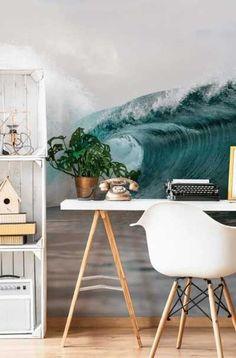 45 Outstanding Beach Decoration Ideas For Bedroom - luxuryfulltimetraveler Beach House Bedroom, Beach Room, Home Bedroom, Bedroom Murals, Bedroom Themes, Bedroom Decor, Bedroom Ideas, Ocean Themed Rooms, Bedroom Accessories
