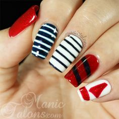 Nautical Manicure Recreation
