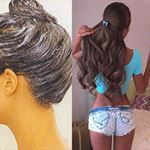 You Won't Believe What She Uses to Grow Out Her Hair