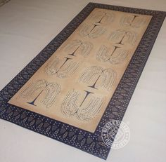 Blue Willow Floorcloth