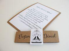 Rusztikus esküvői meghívó, madaras esküvői meghívó, vintage esküvői meghívó, grafikus esküvői meghívó Place Cards, Place Card Holders
