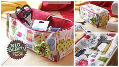 """Utensilo-Tasche """"Big Beauty"""" (Nähanleitung & Schnittmuster) Tasche für Nähkram, Strickzeug oder Häkelsachen."""