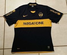 Rare NIKE Boca Juniors 2008  Soccer Jersey Men's Large