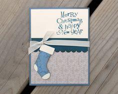 simple christmas stocking card