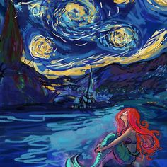 Starry Starry Night meets Mermaid