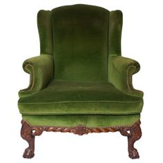 Sage wingback chair from Berkshire Home & Antiques