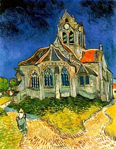 Vincent Van Gogh. The Church at Auvers (1890).