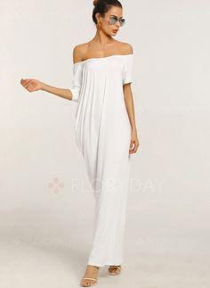 2cd7f859e1d Dress -  40.99 - Cotton Solid Short Sleeve Maxi Dress (01955228297) Summer  Vacation Style