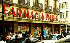 5 de febrero… la calle de las boticas. Farmacia Paris, Centro Cd. de México